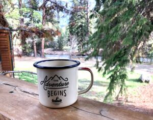 The Adventure begins mug