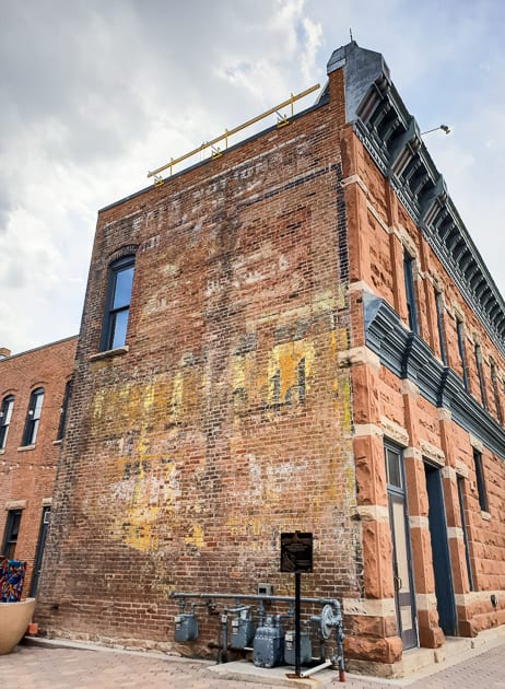 Old advertising signs on buildings