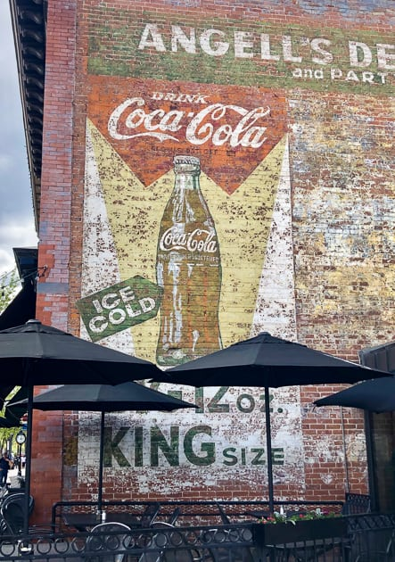old advertising signs painted on buildings