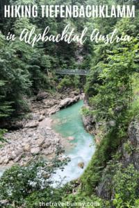 Tiefenbachklamm in Austria