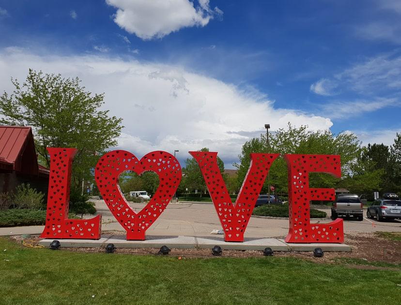 Loveland Love Sign Colorado
