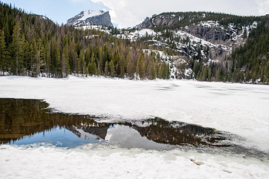 Mountain reflections in lake Rocky Mountain National Park