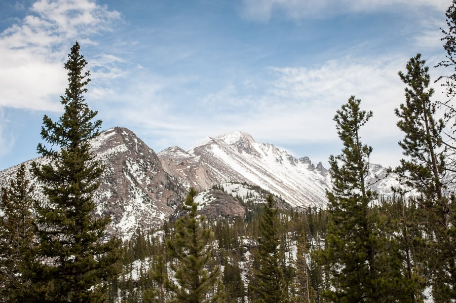 Rocky mountain national park snow capped mountains