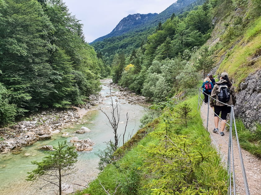 Hikers on Tiefenbach Gorge