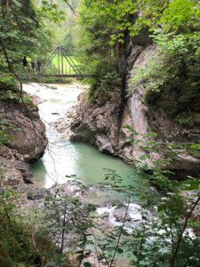 Bridge over River Ache in Tiefenbach Gorge