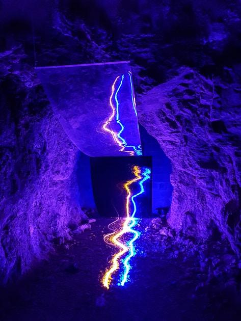 Neon Art in the Schlossberg Tunnel