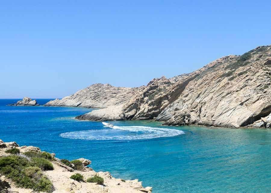 Ios - Mediterranean Sea with boat