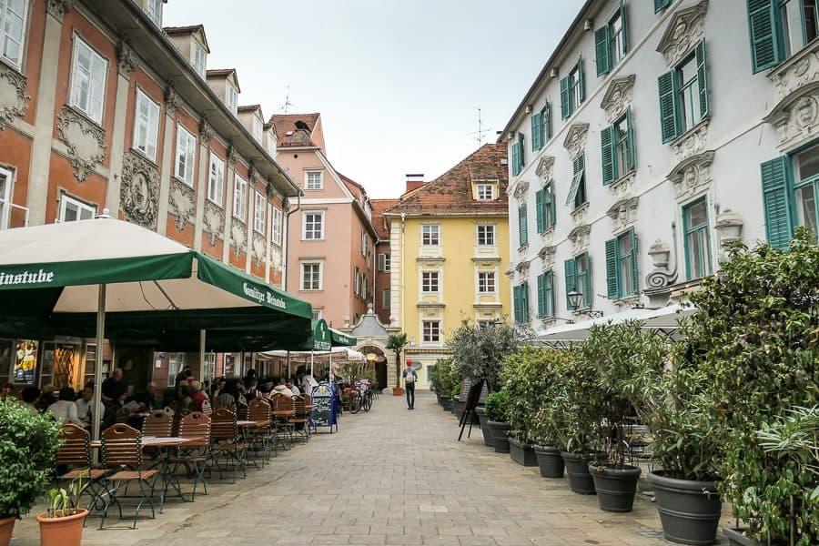 Shuttered houses in Graz, Austria
