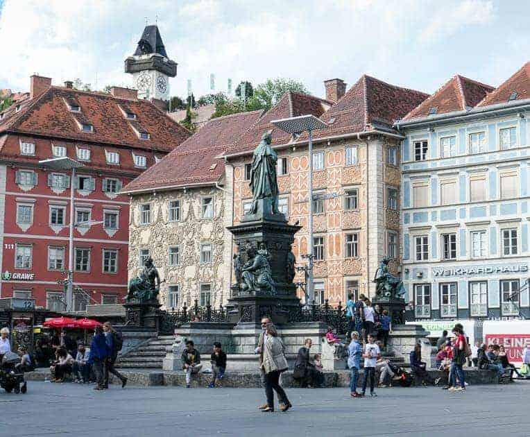 Hauptplatz, main square in Graz