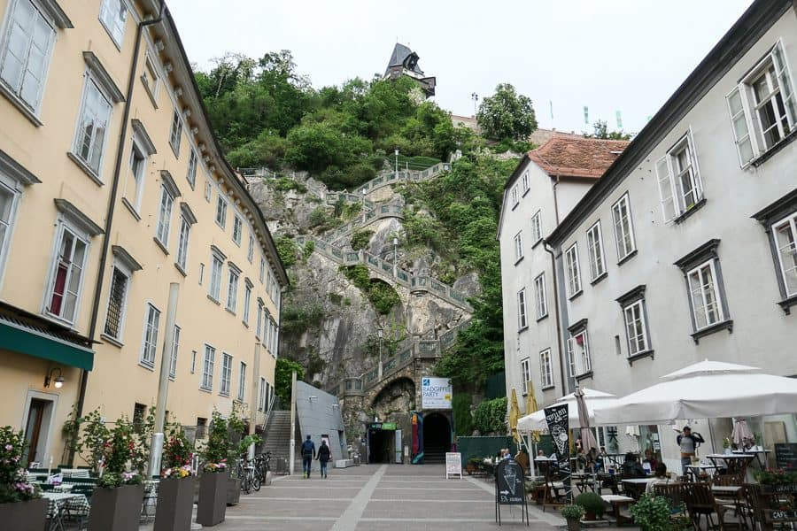 Steps to the Schlossberg Graz