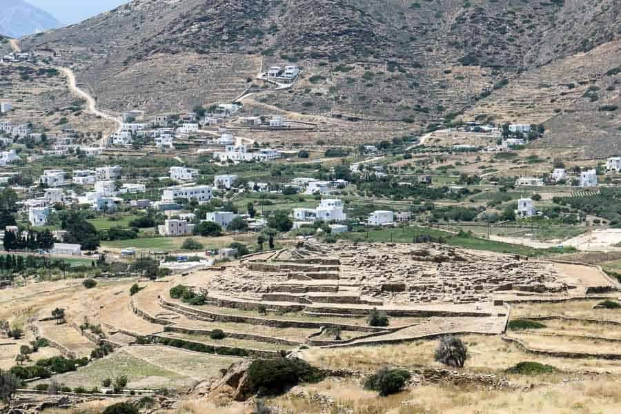Skarkos pre-historic settlement Ios, Greece