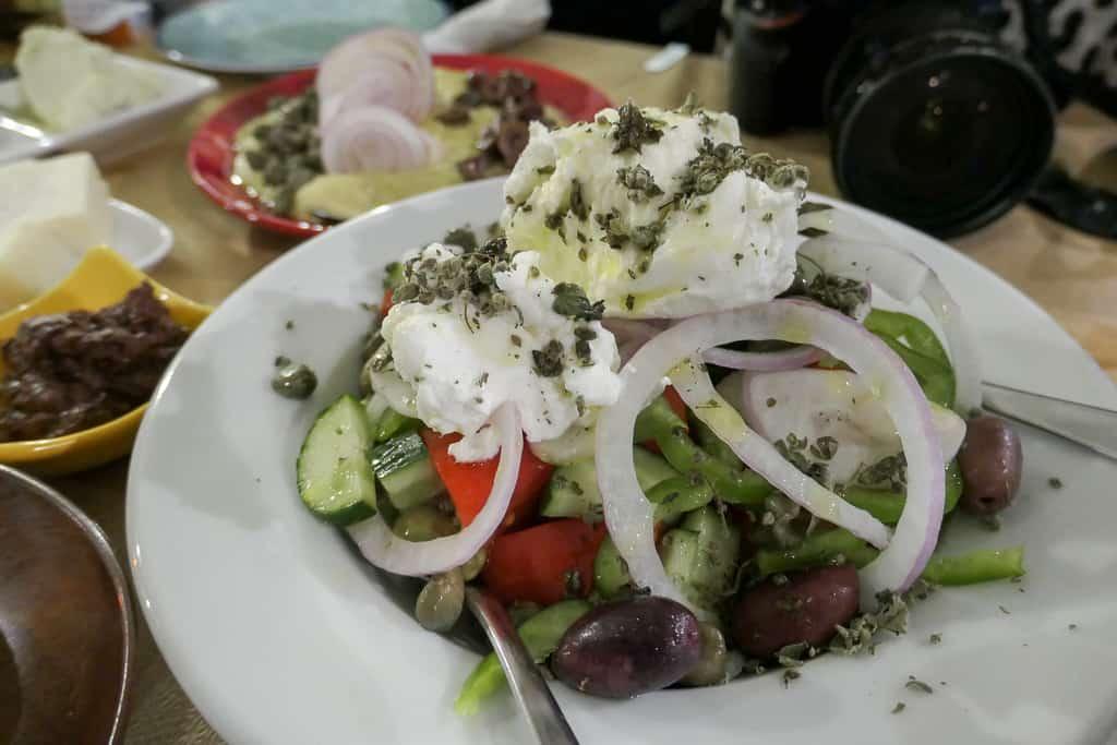 Greek Salad, Ios restaurant