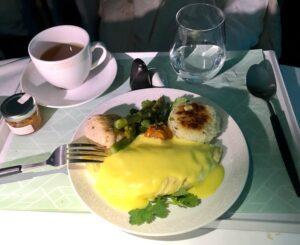 Royal Brunei business class breakfast
