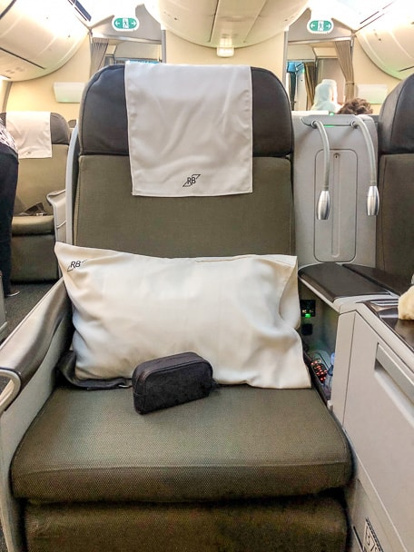 Royal Brunei Airlines business class seat