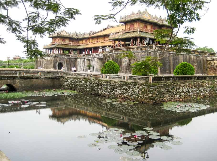 Citadel at Hue across the moat