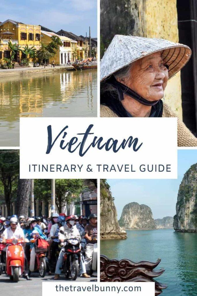 2-week Vietnam itinerary photo montage