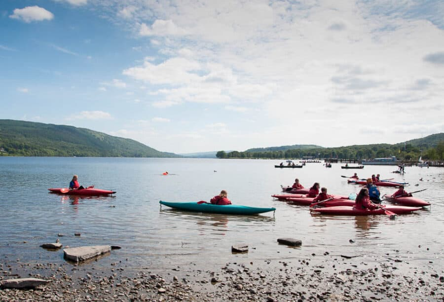 Canoe lessons on Coniston Water