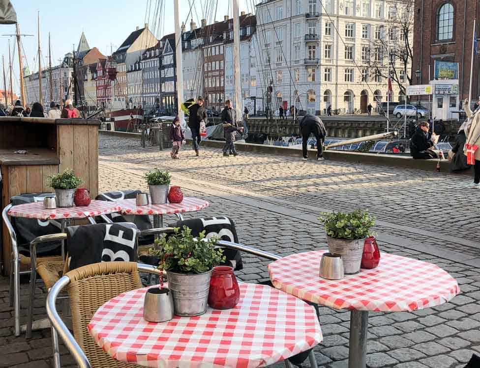 Cafe on Nyhavn, Copenhagen, Denmark