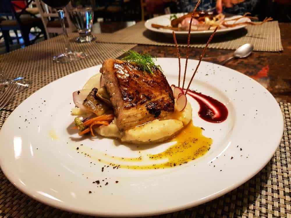 Dinner at Claro Que Si Seafood Grill, Manuel Antonio