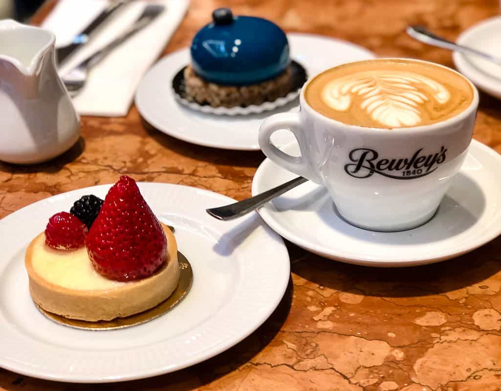 Coffee and pastries at Bewley's, Dublin