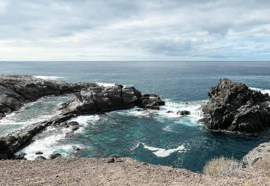 Natural sea pools in Tenerife