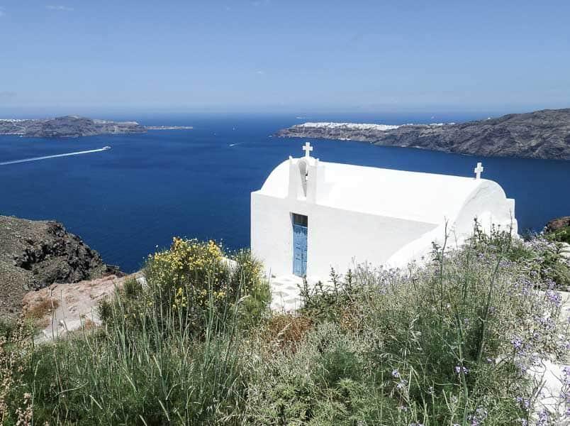 Santorini Caldera Church, Greece