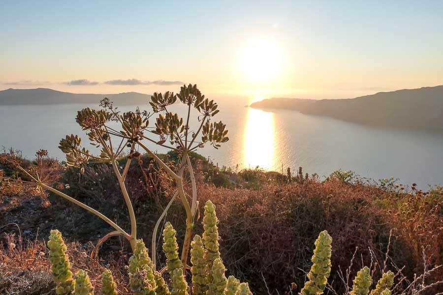 Santorini sunset at Imerovigli