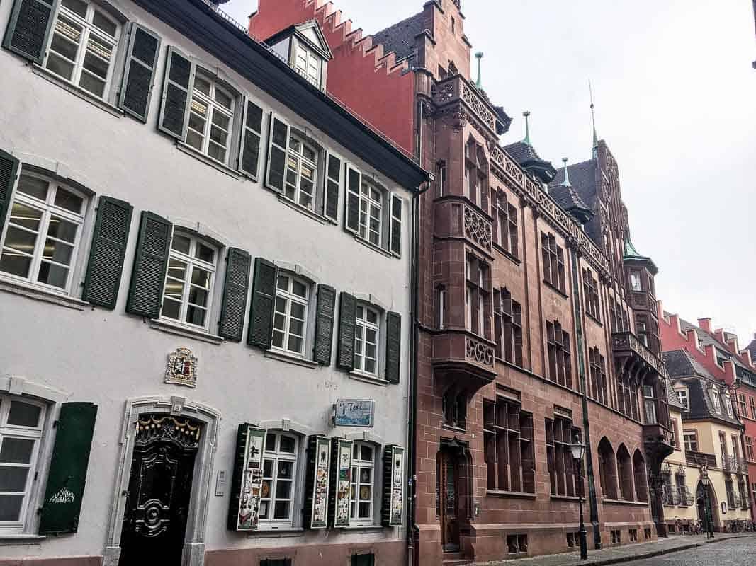 Buildlings on the Musterplatz, Freiburg, Germany