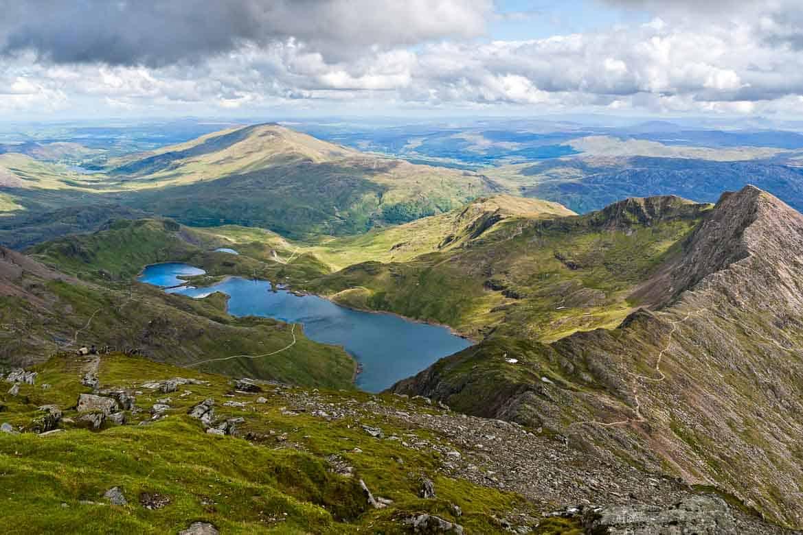 Views from Snowdon Peak, Wales