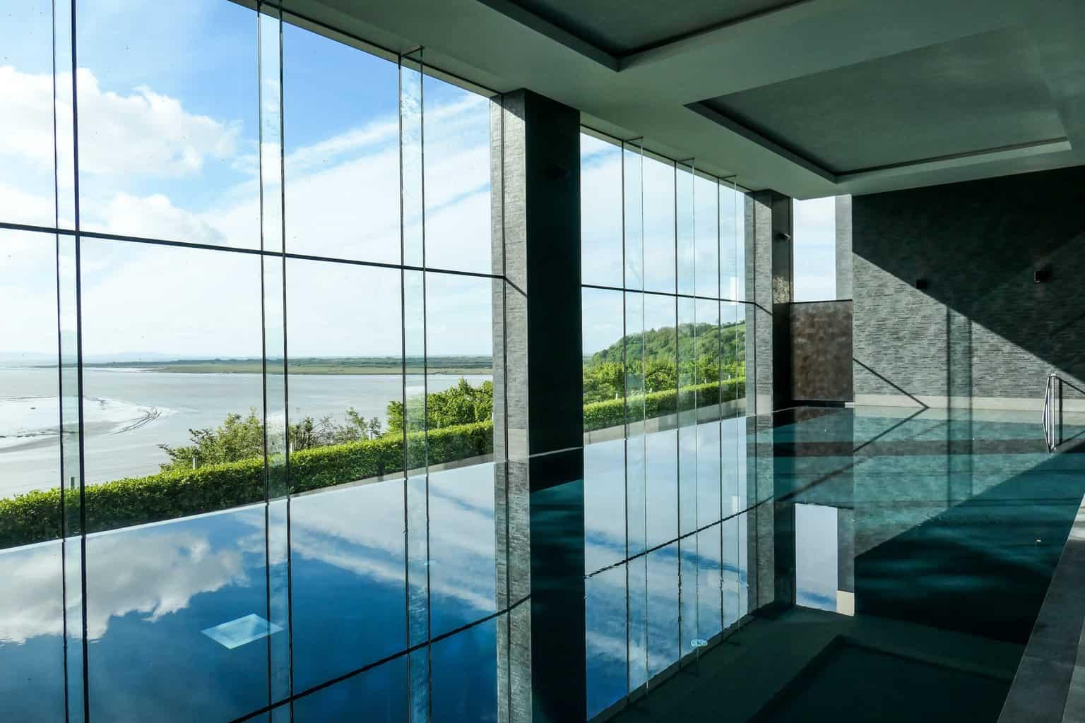 Infinity pool at Dylan Coastal Resort, Laugharne