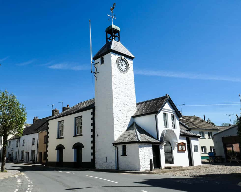 Laugharne Town Hall and Clock Tower, Wales