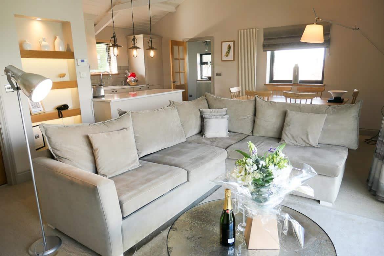 Lounge area, Dylan Lodge, Dylan Coastal Resort, Laugharne