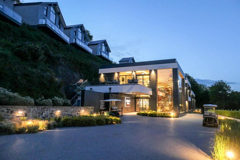Milk Wood House, Dylan Coastal Resort, Laugharne at dusk