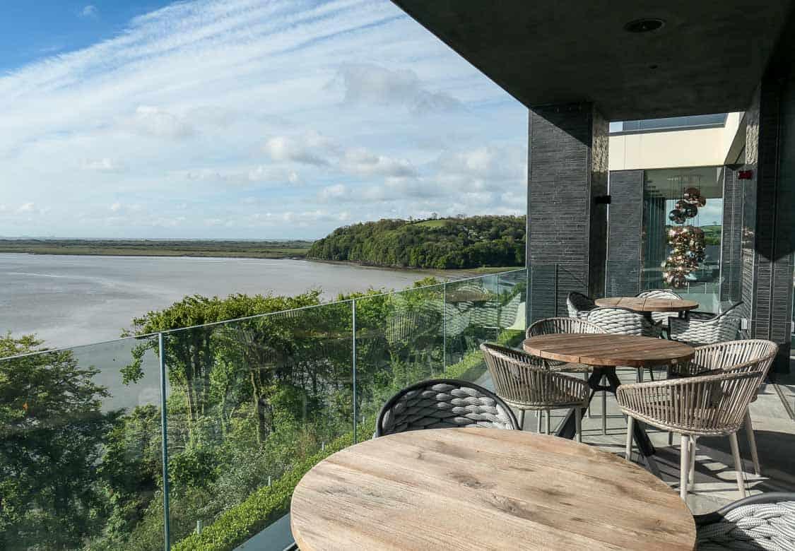 Terrace, Milk Wood House, Dylan Coastal Resort, Laugharne