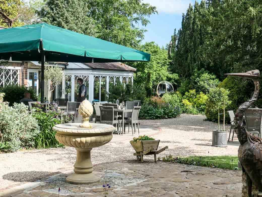 Garden at Eastbury Hotel, Sherborne