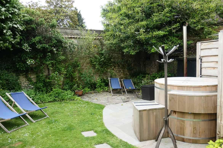Hot tub at Eastbury Cottage, Sherborne