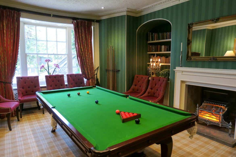 Snooker Room, Eastbury Hotel, Sherborne