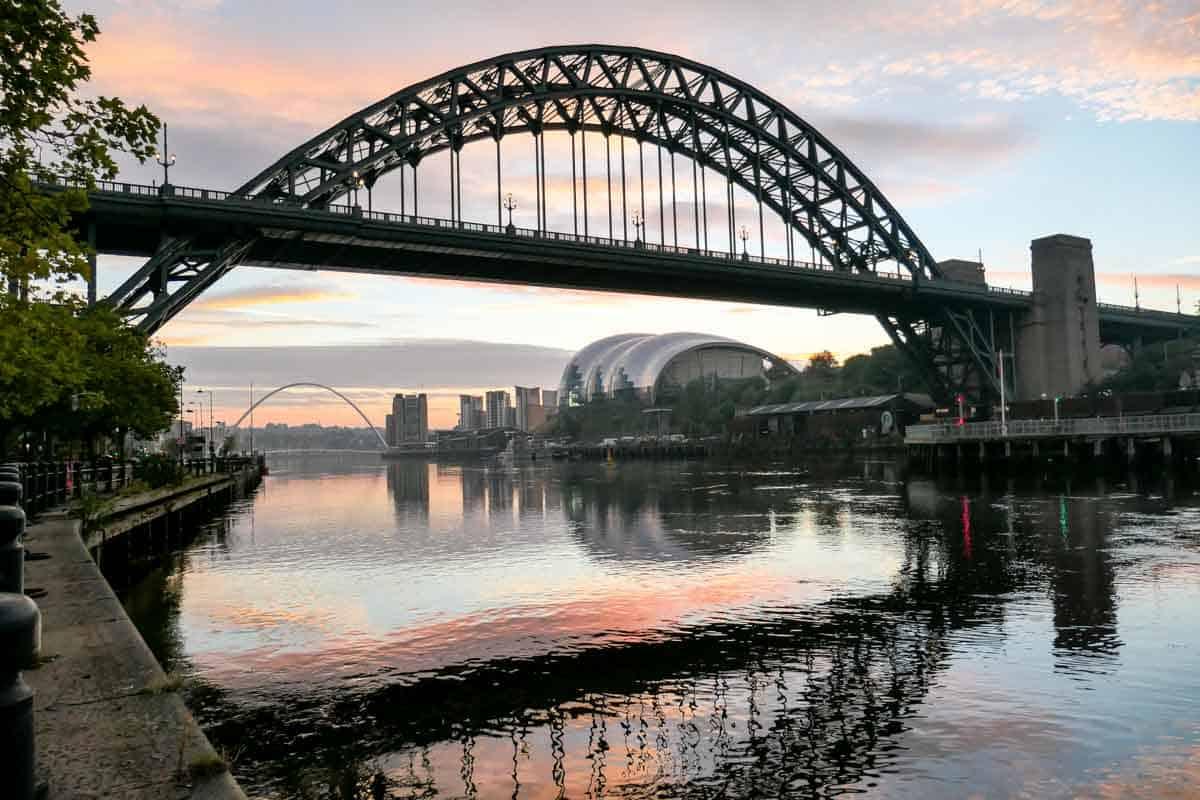 Tyne Bridge, Newcastle at sunrise